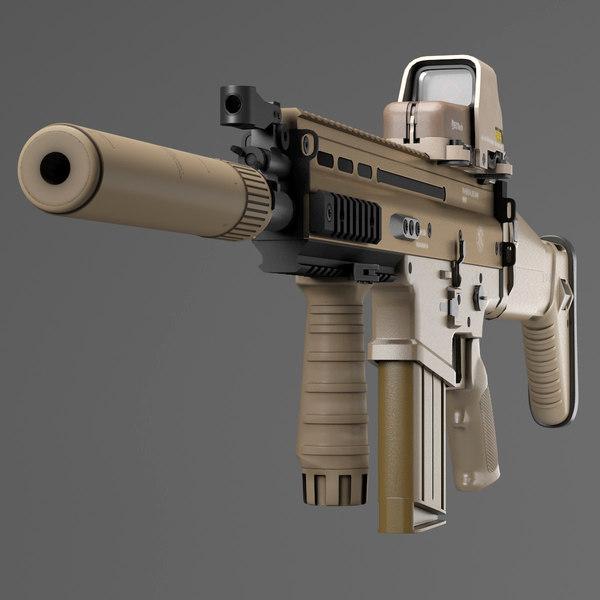 Assault Rifle FN SCAR-H 3D Models