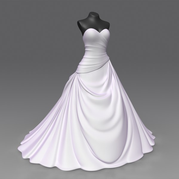 Wedding Dress 3D Models