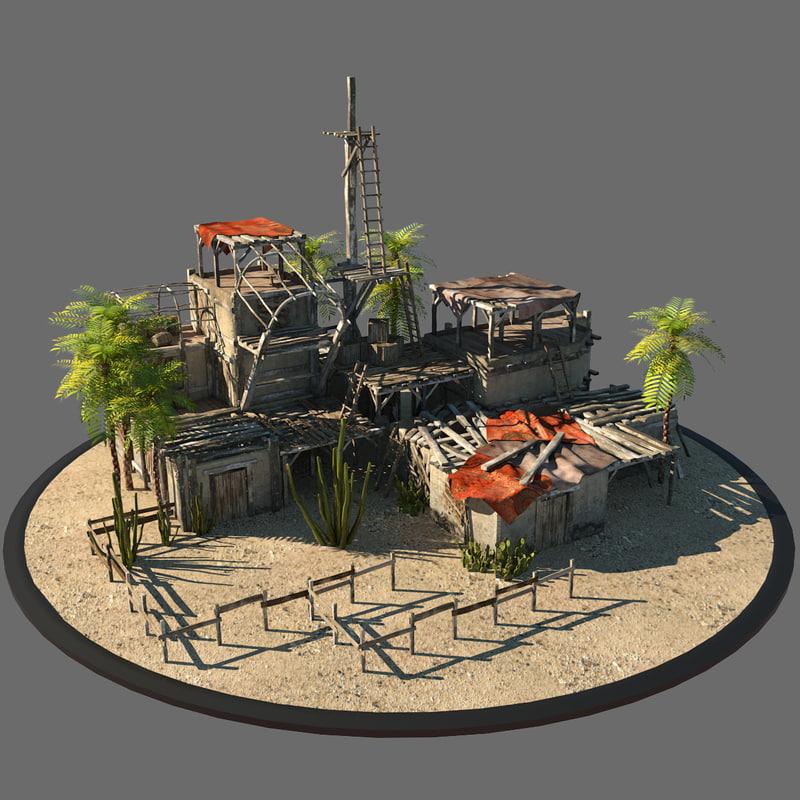 3d model old pueblo for How to build a model pueblo house