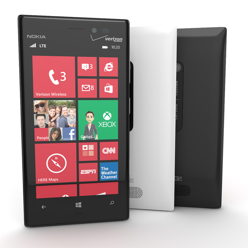 Nokia Lumia 928 Flagship Smartphone In Black And White