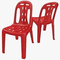 monobloc chair 3D models