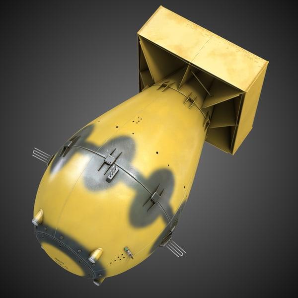 Nuclear Bomb Fatman 3D Models