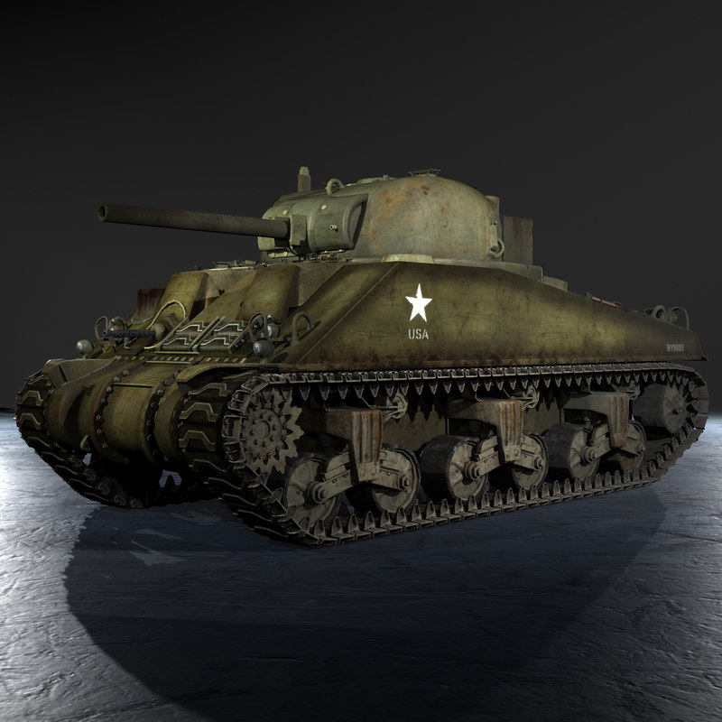 WWII M4A4 Sherman V Early Production Medium Tank