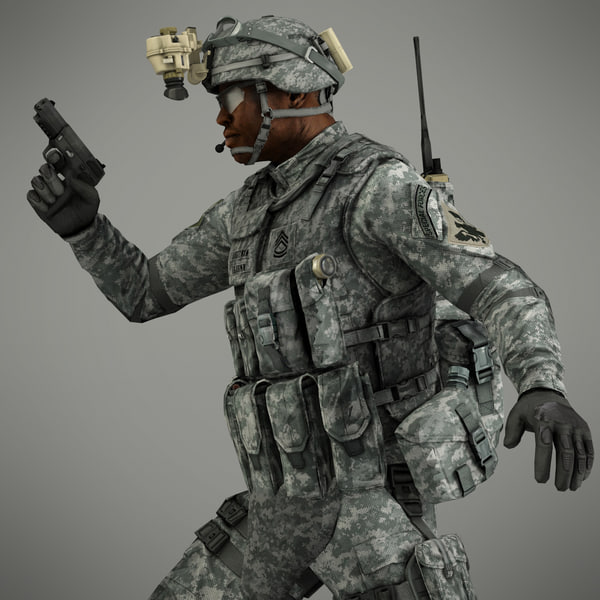Military Male US Soldier 3D Models