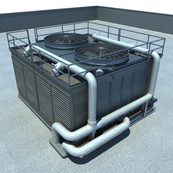 Large Air Conditioning Unit 3D Models