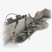 destroyed wall 3D models