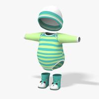 baby clothes 3D models
