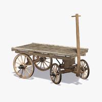 wooden cart 3D models
