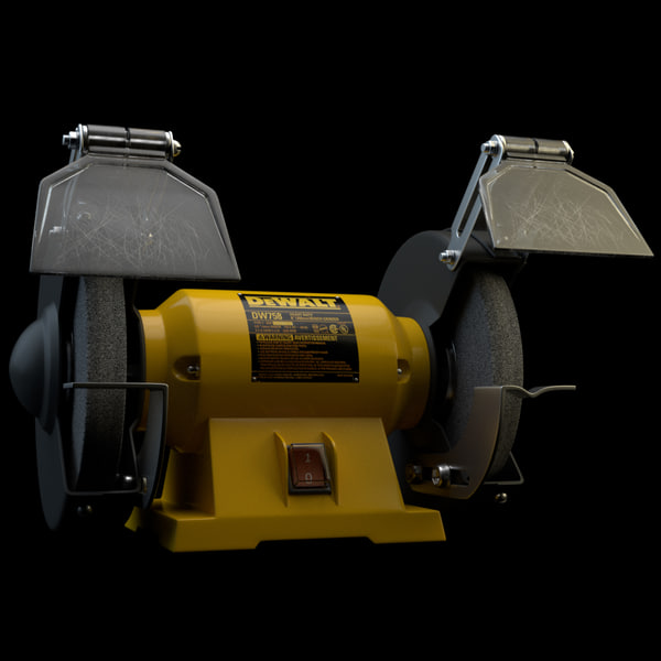 Heavy Duty Bench Grinder 3D Models