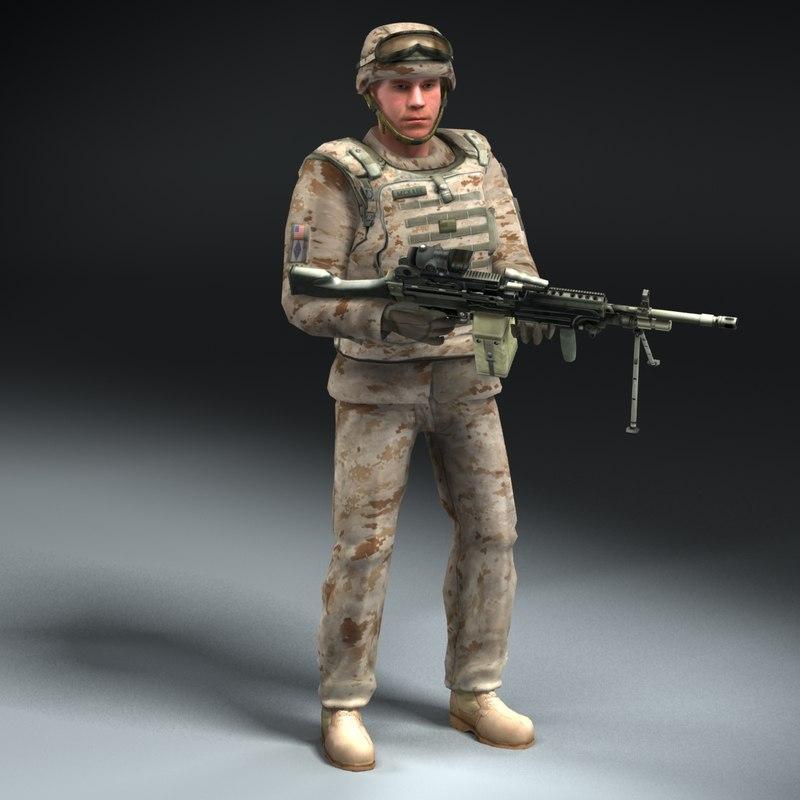 Marine D USMC Rigged