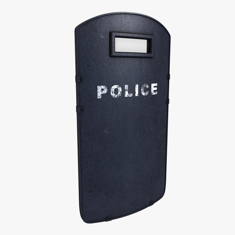 riot ballistic shield 3d fbx