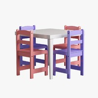 children's table 3D models