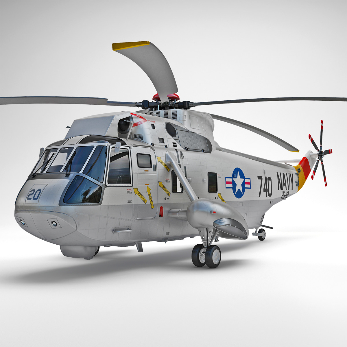 SH-3 Sea King 2 Rigged