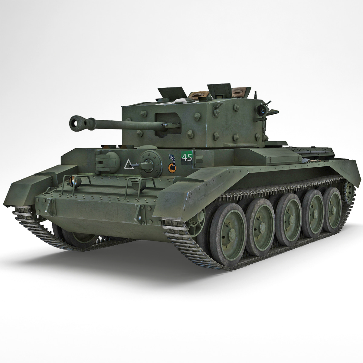 Britain Cruiser WWII Tank Mk VIII Cromwell Green Rigged_2.jpg