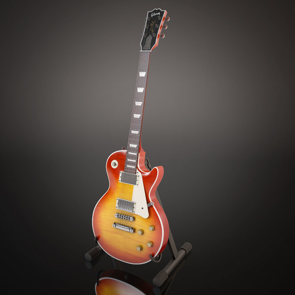 Gibson Les Paul Cherry Sunburst 3D Models