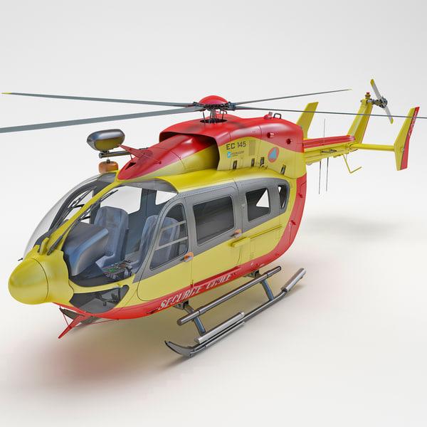 Eurocopter EC145 3D Models