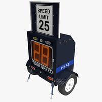 speed camera 3D models