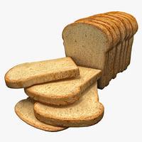 loaf of bread 3D models