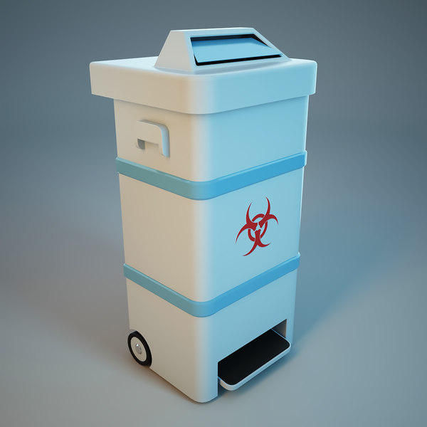 Bio Waste Trash Bin 3D Models