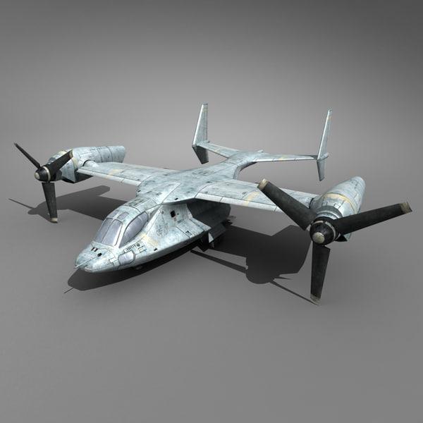 Future Tiltrotor Aircraft 3D Models