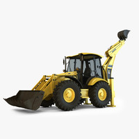 backhoe loader 3D models