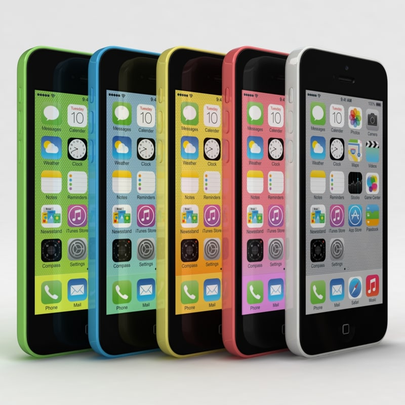Apple iPhone 5c All Colors