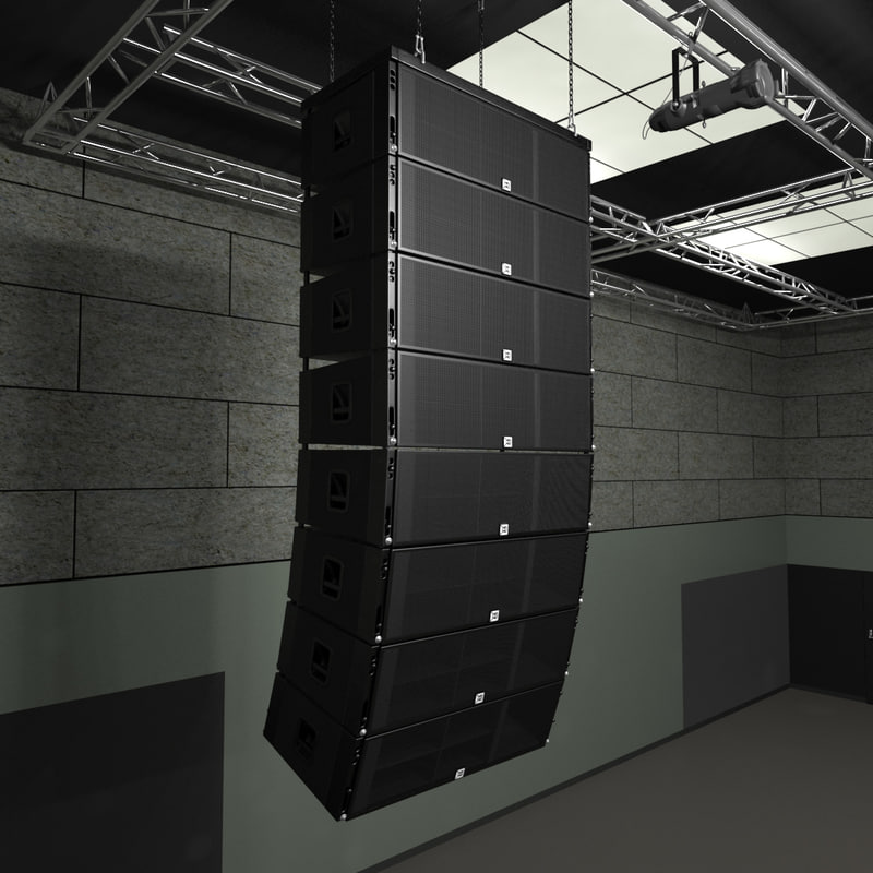 3d linear concert speakers model
