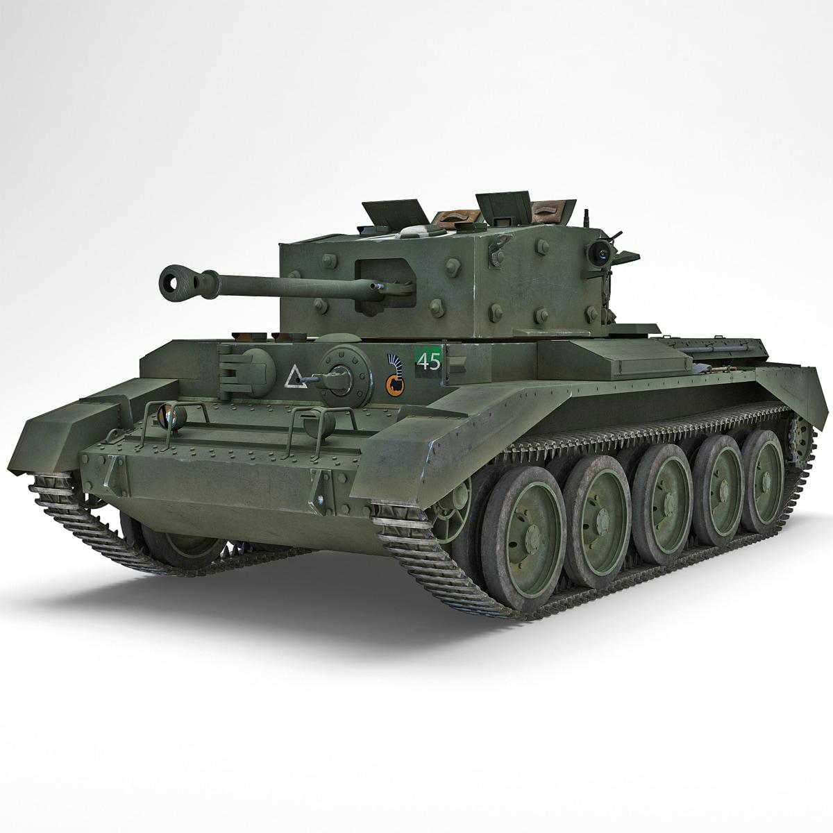 Britain Cruiser WWII Tank Mk VIII Cromwell Green_2.jpg