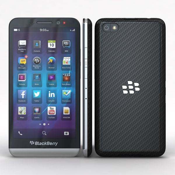 BlackBerry Z30 3D Models