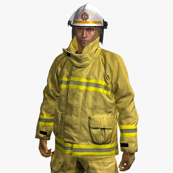 Fireman Fire & Rescue 3D Models