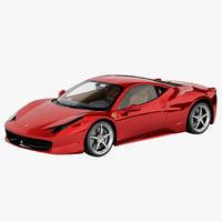 ferrari 458 italia 3D models