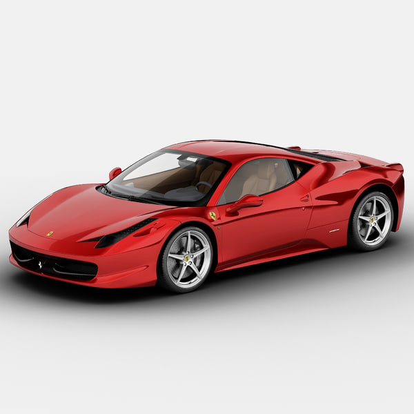 Ferrari 458 Italia Scuderia 2013 3D Models