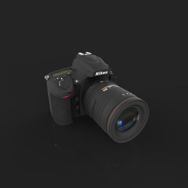 Nikon D800 3D Models