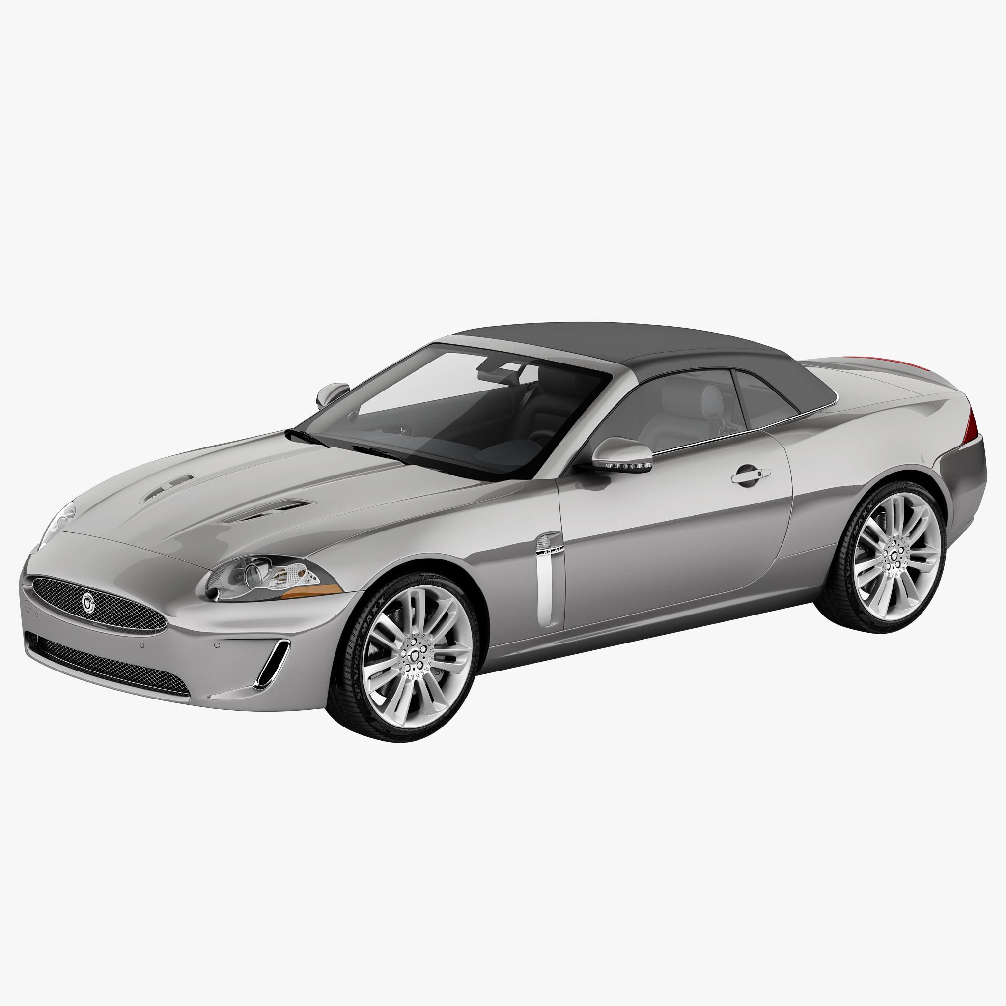 Jaguar Xk Convertible: Xkr Convertible 2011 3d Model