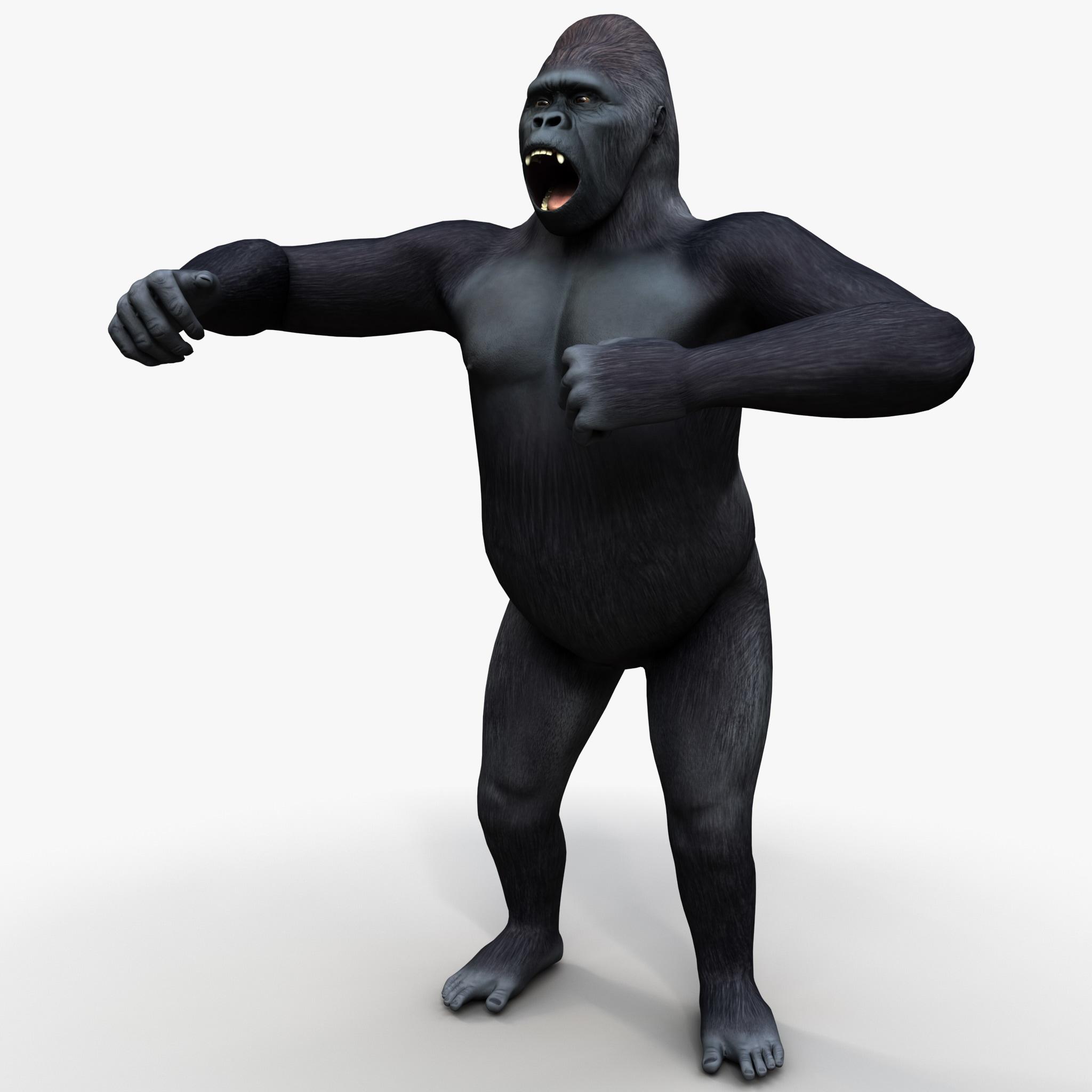 Gorilla Pose 1