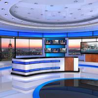 tv studio 3D models