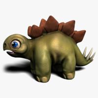 cartoon dinosaur 3D models