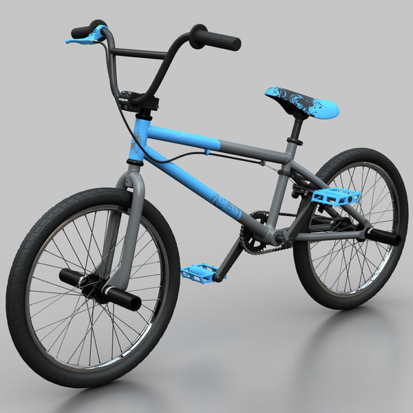 Mountain Bike BMX Mongoose Blue 3D Models