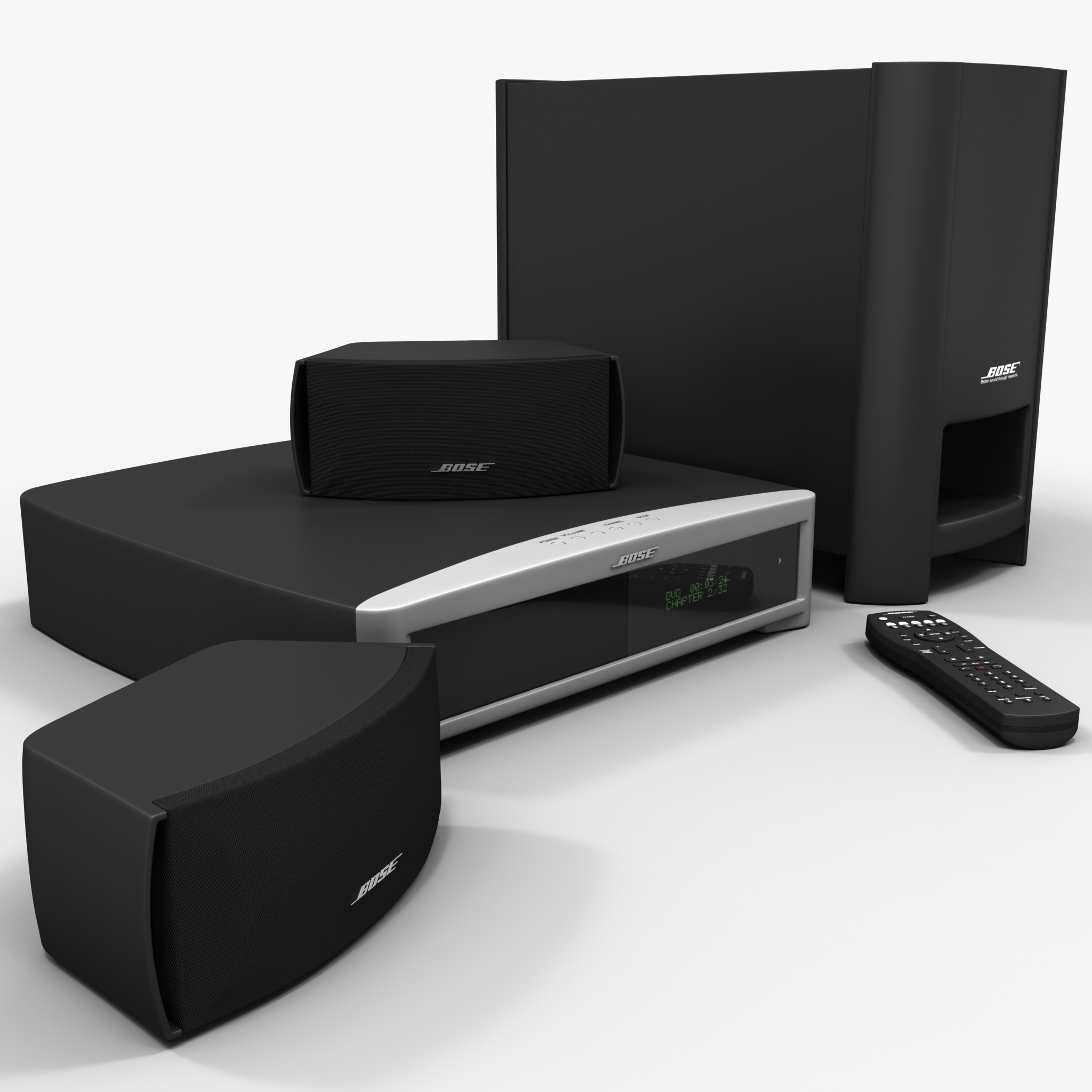 DVD Home Entertainment System Bose Graphite Set