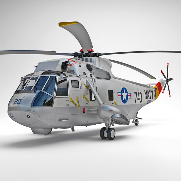 SH-3 Sea King 2 3D Models