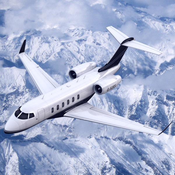 Bombardier Challenger 300 Private Jet 3D Models