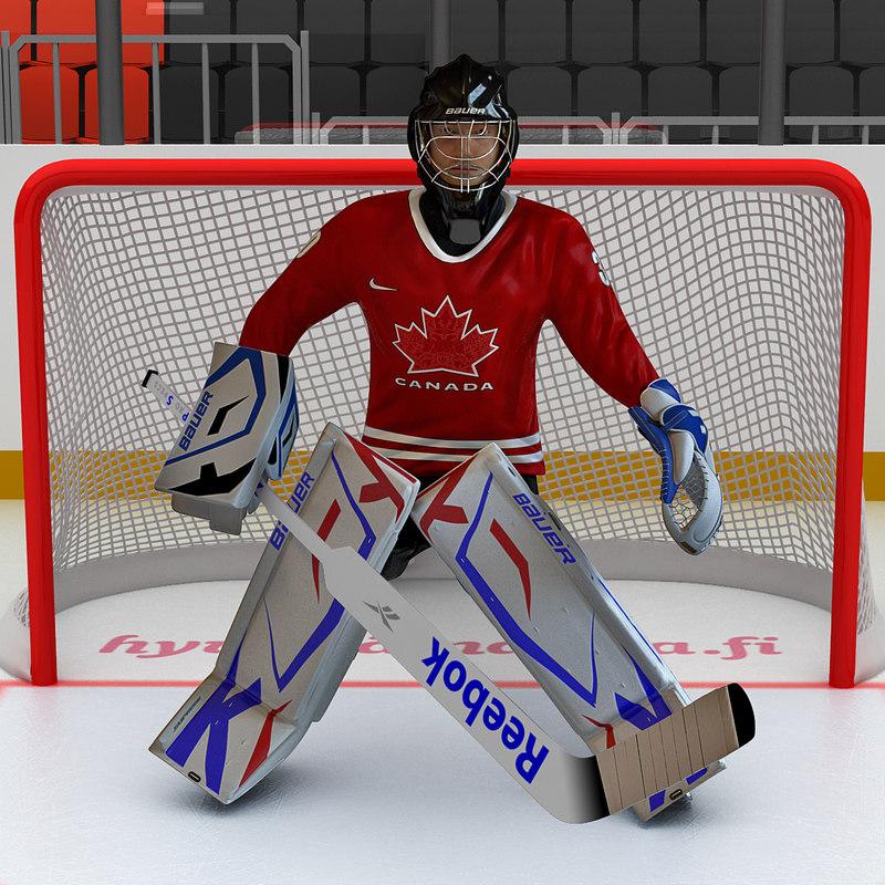 ice hockey goalkeeper 3d model