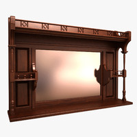 display cupboard 3D models
