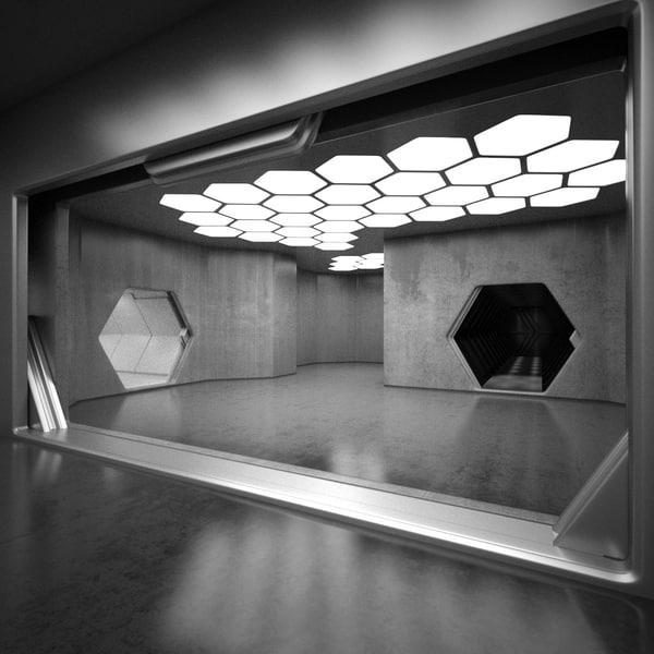 Sci-Fi Interior 3D Models