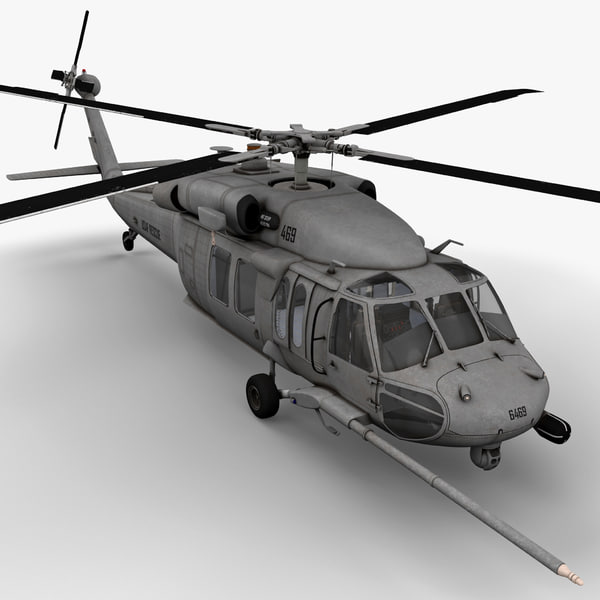 HH-60 Pave Hawk Rigged 3D Models