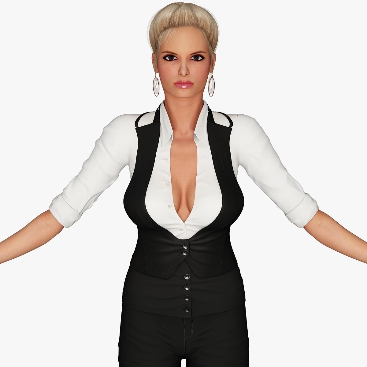 3d model of blonde -#main