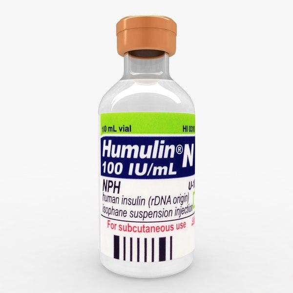Humulin N 3D Models