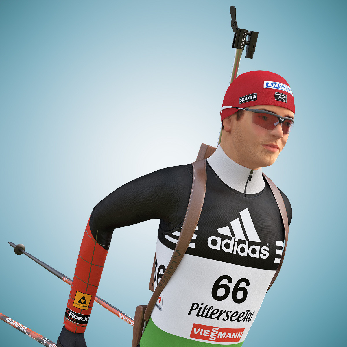 Olympic Biathlon Player