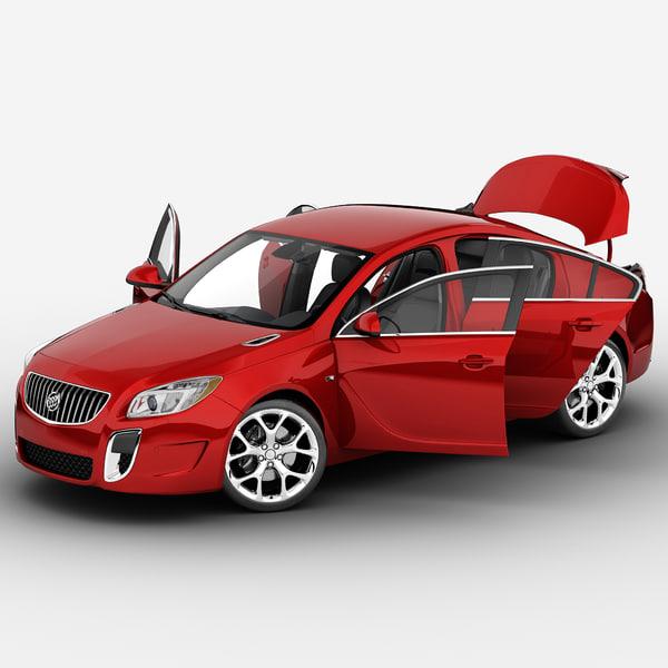 Buick Regal 2014 Rigged 3D Models