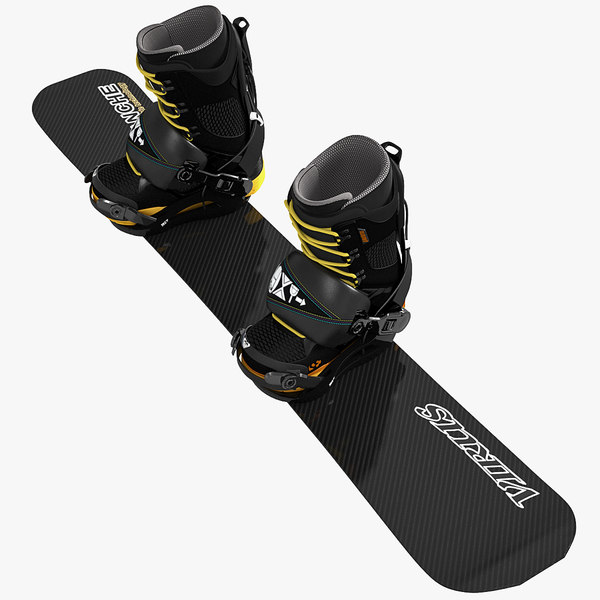 Soft Boots and Avalanche Snowboard 3D Models